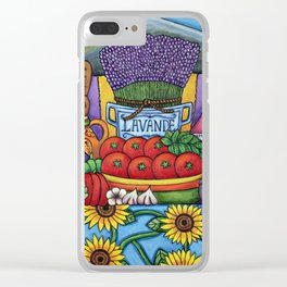 Flavours of Provence Clear iPhone Case