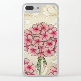 magnolias and geraniums Clear iPhone Case