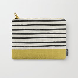 Mustard Yellow & Stripes Carry-All Pouch