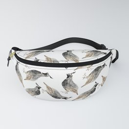 Watercolor Quail Fanny Pack