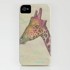 Giraffe in Technicolor iPhone (4, 4s) Slim Case