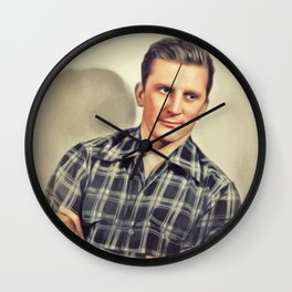 Kirk Douglas, Vintage Actor Wall Clock