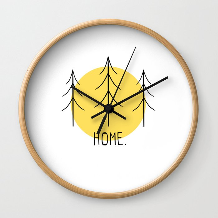 Home Amongst the Trees Wall Clock