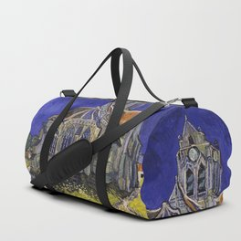 The Church at Auvers by Vincent van Gogh Duffle Bag