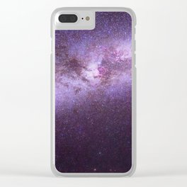 Purple Sky (Color) Clear iPhone Case
