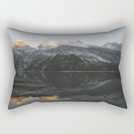 Mirror Mountains - Landscape Photography Rectangular Pillow