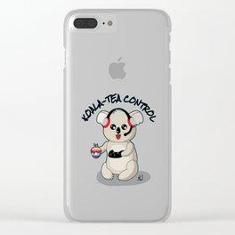 Koala-Tea Control Clear iPhone Case