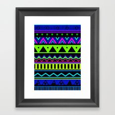 Colouful Aztec Framed Art Print