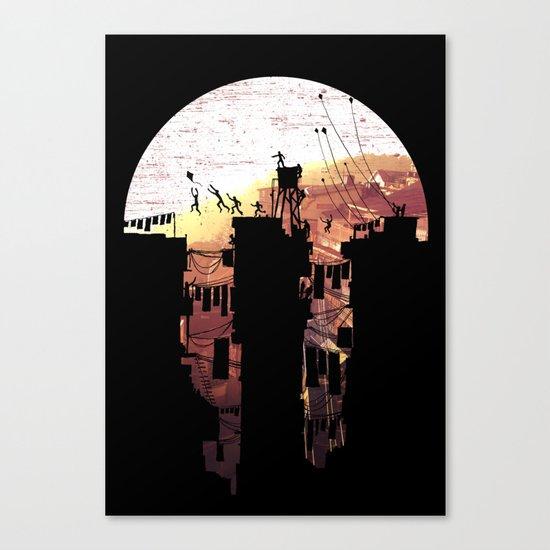 Kite Parkour Canvas Print