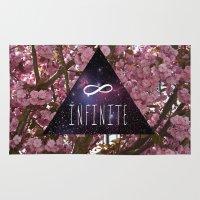 infinite Area & Throw Rugs featuring Infinite by Maria Lugilde