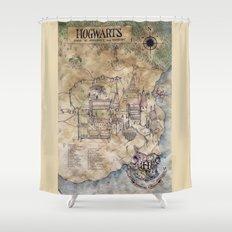 Hogwarts Map Shower Curtain