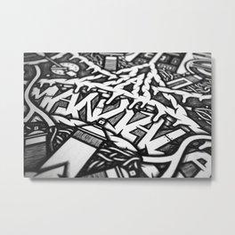 Mandala Doppia H Detail Metal Print