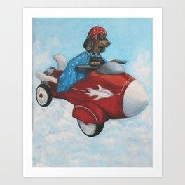 Elvis Flies for K9 Air Art Print