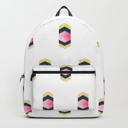 Geometric Hexagons & Chevrons Backpack