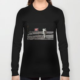British Flag on the Moon Long Sleeve T-shirt