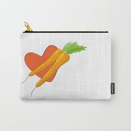 Carrot Heart Carry-All Pouch