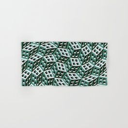Abstract twisted cubes Hand & Bath Towel
