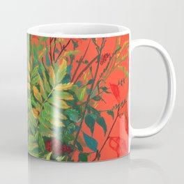 Autumn Floral, Orange an Green Coffee Mug