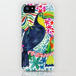 Toucan in the Rainforest iPhone Case