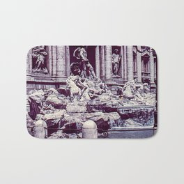 Vintage Photo * 1940's * Fontana di Trevi * Trevi Fountain * Rome * Italy Bath Mat