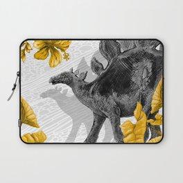 Jurassic Stegosaurus: Gold & Gray Laptop Sleeve