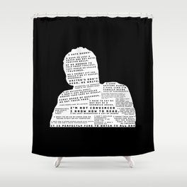 Nick Miller Quotes - black Shower Curtain