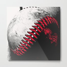 Baseball Pop Art 2 Metal Print