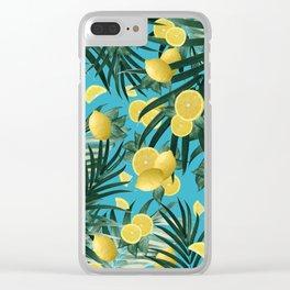 Summer Lemon Twist Jungle #4 #tropical #decor #art #society6 Clear iPhone Case