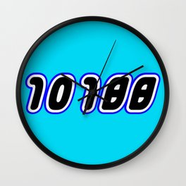 10188 [DEATH STAR] in Brick Font Logo Design [Alternate Colors] by Chillee Wilson Wall Clock