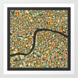 LONDON MAP Art Print