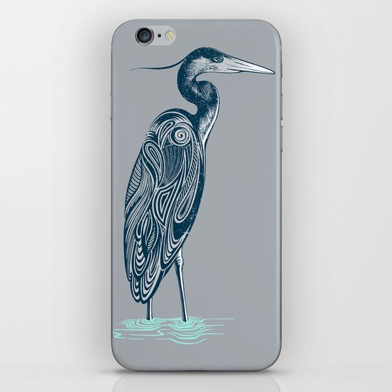 Bewitching blue heron iPhone & iPod Skin