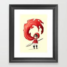 Red Cape Framed Art Print