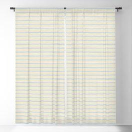 Striped Yellow Blue Scrapbook Sherbert Blackout Curtain
