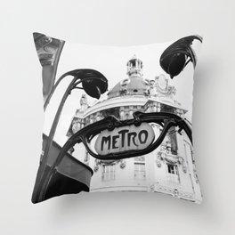 Paris Metro V Throw Pillow