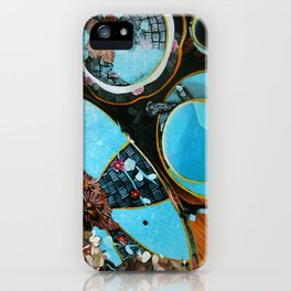 Majolica and Hydrangea iPhone Case