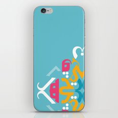Blue Arabic iPhone & iPod Skin