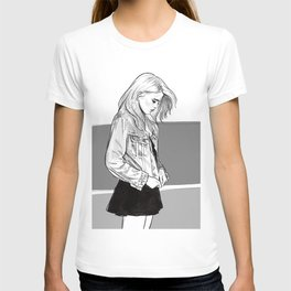 Heavy Metal Heart - Sky Ferreira illustration portrait T-shirt