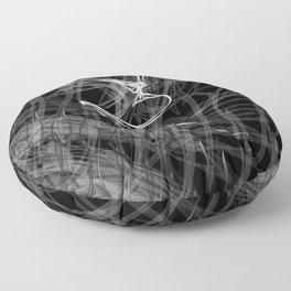 Swallow 1.White on black background. Floor Pillow