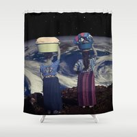 planet Shower Curtains featuring Planet by Cs025