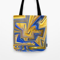 alchemy Tote Bags featuring Attempted Alchemy by David  Gough