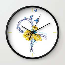 Ribbon | Endometriosis awareness Wall Clock