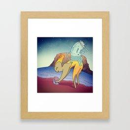 Water Clay Framed Art Print
