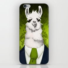 Formal Llama - Green iPhone & iPod Skin