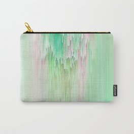 Abstract Cascade Glitch 1.Green Carry-All Pouch