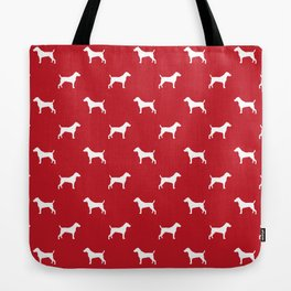 Jack Russell Terrier red and white minimal dog pattern dog silhouette pattern Tote Bag