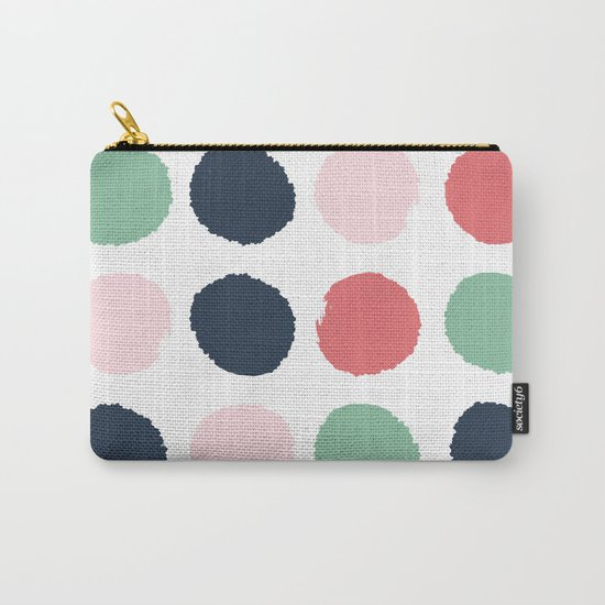 Painted dots abstract minimal modern art print for minimalist home decor nursery Carry-All Pouch