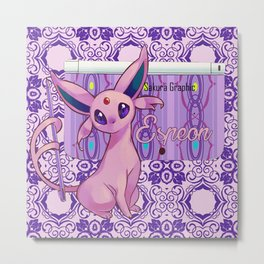 The power of Espeon 2 Metal Print