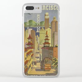 Vintage poster - San Francisco Clear iPhone Case
