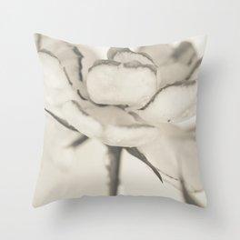 Monochromatic rose Throw Pillow
