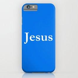 Jesus 6 blue iPhone Case